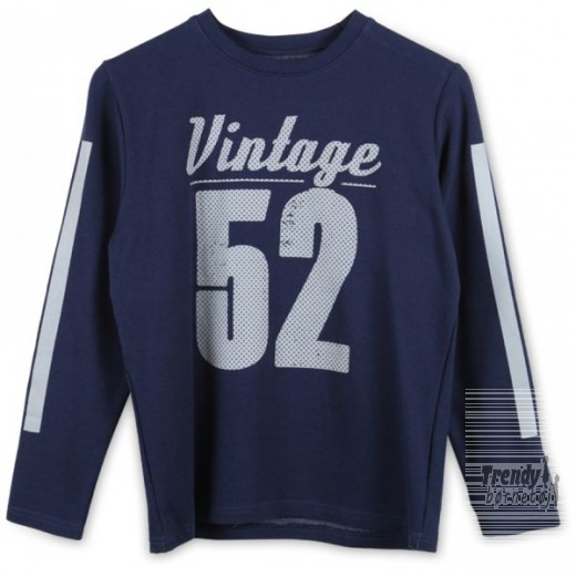 Native sweat shirt i marineblå med print-3