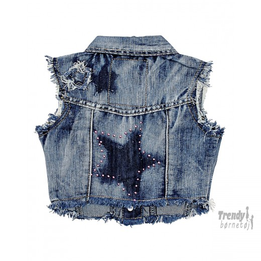 kids up denim vest 4/5 år-30