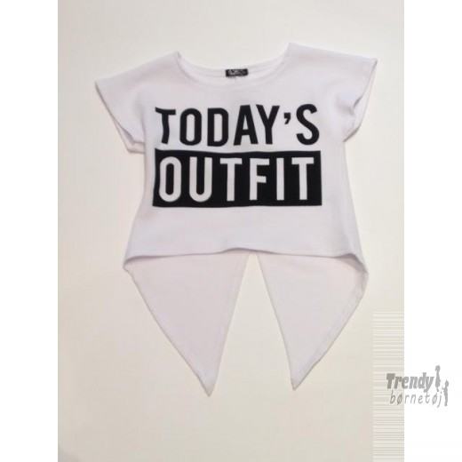 Queenz t-shirt i hvid med Today Outfit print-3