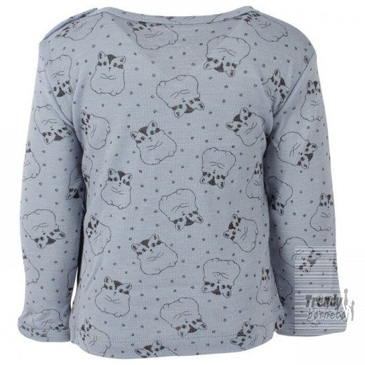 Fixoni bluse i lyseblå med all over print-32