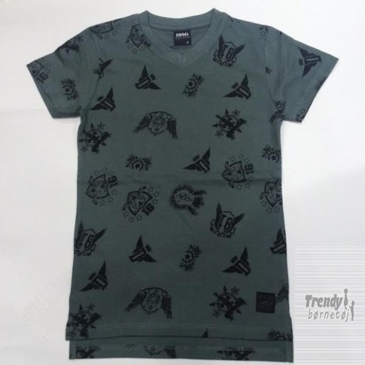 D-xel t-shirt i army med all over print-3