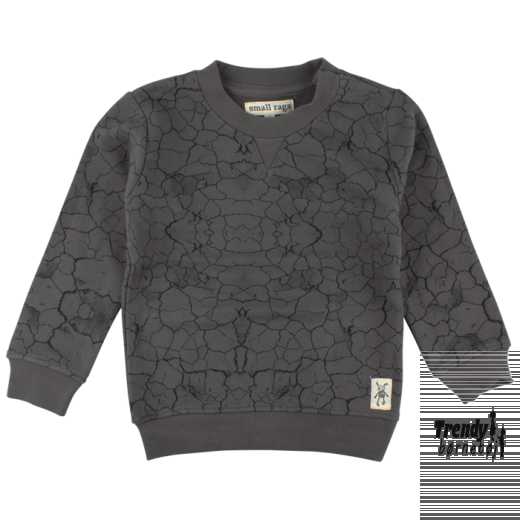 small rags army sweat shirt i grå-3