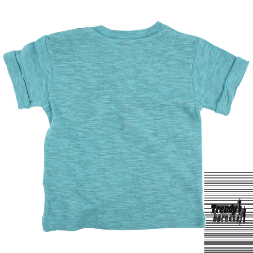 Smallrags t-shirt i blåmeleret 60266-30