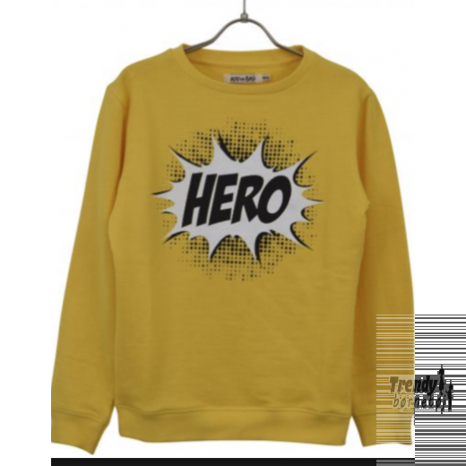 Add to bad sweat shirt i gul med hero print-31