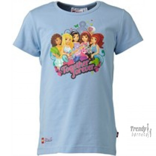 lego friends t-shirt i lyseblå str 116-3