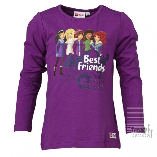 LEGO Friends pige t-shirt med de 5 best friends-36