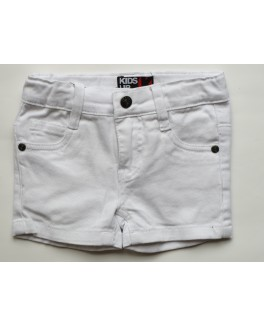 Kids-up denim shorts i hvid.-20