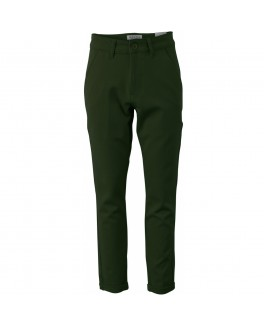 Chinos i blød stretch twill med opsmøg i army-20