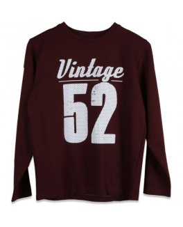 Native sweat shirt i mørkerød med print-20