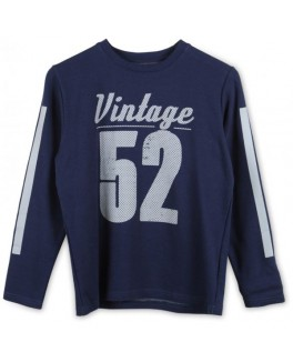 Native sweat shirt i marineblå med print-20