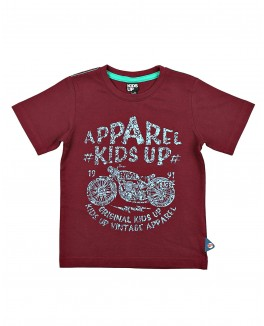 KIds-up t-shirt i bordeaux med logo-20