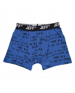 Jeff bokse short i marineblå med all over print-20