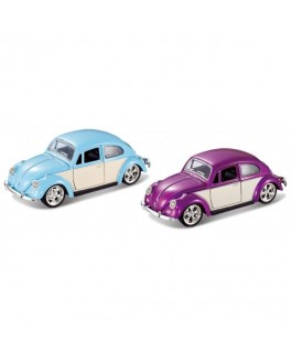 Magni Bil / Car VW Beetle pull back, 6 ass. farver / colors-20