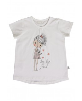 Claire t-shirt med print-20