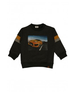 Hust Sweat shirt med racer bil-20