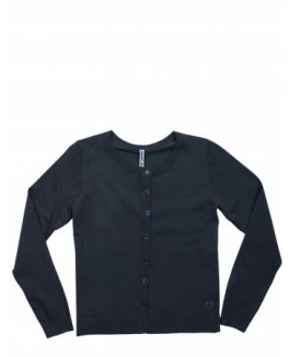Grunt cardigan i sort med knapper-20