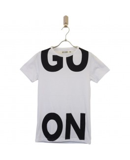 Add to bad t-shirt i hvid med go on print-20