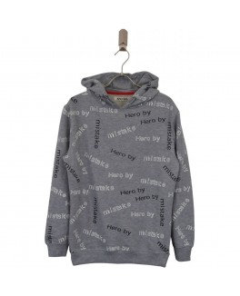 Addtobag hoodies i grå med all over print-20