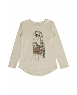 CLAIRE KIDST-SHIRT MED PRINT-20