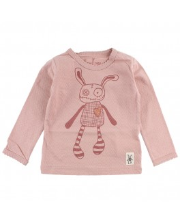 small rags bluse i rosa med logo-20