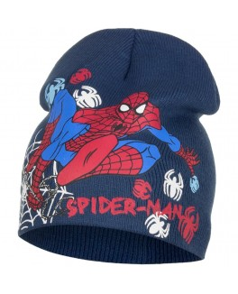 Spiderman hue i petrol farvet med spiderman motiv-20