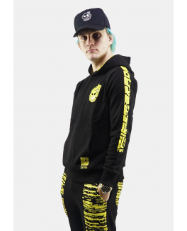 "FIRSTGRADE ""ERROR"" HOODIE BLACK/YELLOW-20"