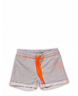 Kids-up short i grå med orange snøre og stjerne logo-20