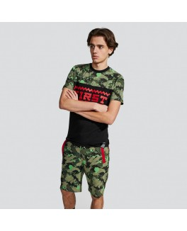 Firstgrade army t-shirt med rødt print-20