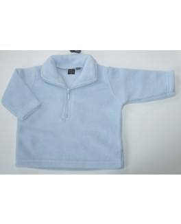 baby Basic fleece trøje i pastel blå-20