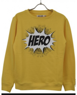 Add to bad sweat shirt i gul med hero print-20