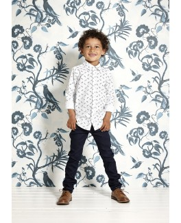 Kids-up denim bukser i sort-20