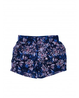 Addtobag short i marineblå med all over print af blomster-20