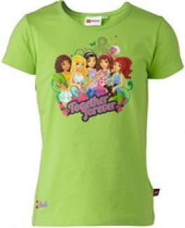 Lego friends t-shirt i grøn str 122-20