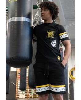"FIRSTGRADE ""TOKIO"" SWEAT SHORTS BLACK/YELLOW-20"