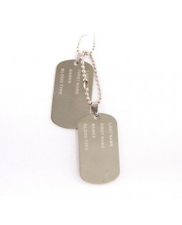 Navy skilt-dog tag i blank-20
