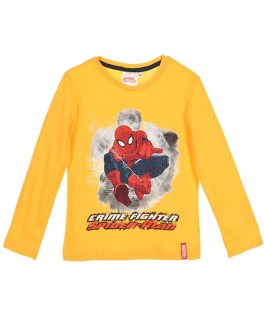 Spiderman l/æ t-shirt i gul med print-20