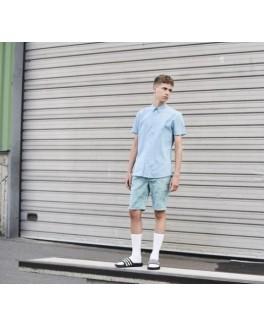 HoundKortrmetskjorteSkjortenharenklassiskkraveogknaplukning-20