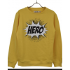 Add to bad sweat shirt i gul med hero print-01