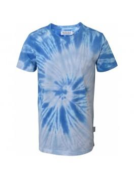 Hound Kortærmet Tie Dye T-shirt. i blå