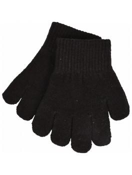 Mikk linePæne og varme handsker med rib i sort