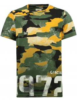 Garcia t-shirt i army look