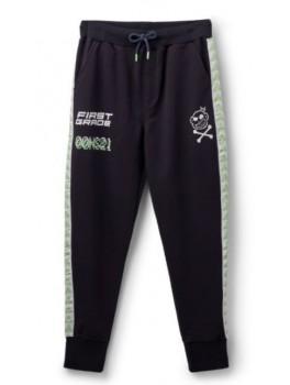 Firstgrade jogging bukser i navy med logo foran og bagpå