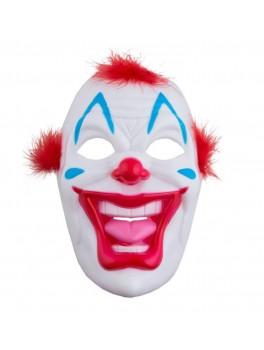 Klovne maske med rød hår